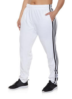 93e175b2446 Plus Size Love Varsity Stripe Track Pants - 1927072290269