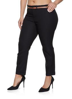 Plus Size Women Straight Black Pants
