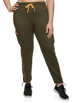 Plus Size Cargo Sweatpants - 1928063403013