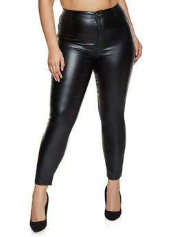 Plus Size Coated Jeggings - 1928068194933
