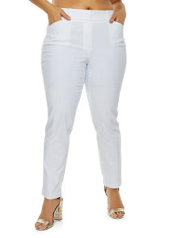 Plus Size Stretch Dress Pants - 1928068511564
