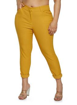 Plus Size Stretch Dress Pants - 1928068511564