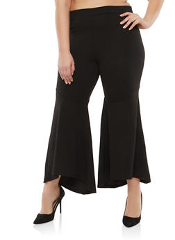 Plus Size Bell Bottom Pants - 1928069393012