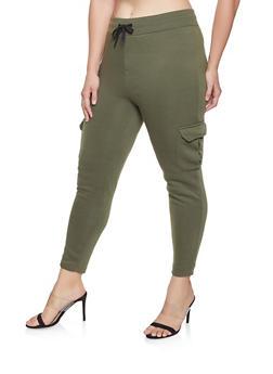 Plus Size Cargo Sweatpants - 1928072290051