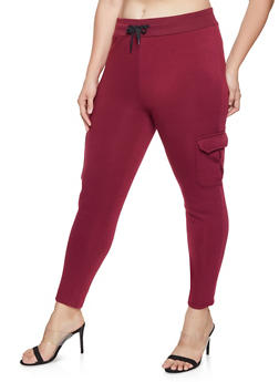 Plus Size Cargo Sweatpants - 1928072290051