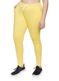 Plus Size French Terry Lined Joggers - 1928072290057