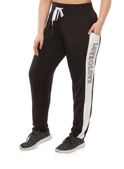 Plus Size Love Graphic Sweatpants - 1928072290102