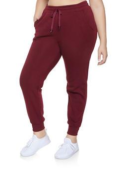 Plus Size Fleece Lined Sweatpants - 1928072290137