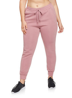 Plus Size Fleece Lined Sweatpants - 1928072290137