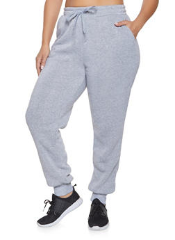 Plus Size Fleece Lined Sweatpants - 1928072290138