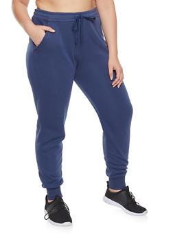 Plus Size Fleece Lined Sweatpants - 1928072290138