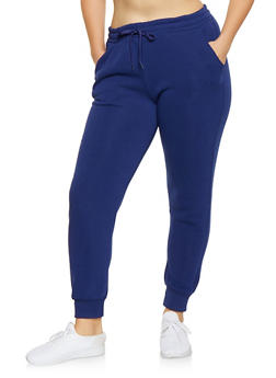 Plus Size Fleece Lined Sweatpants - 1928072290139