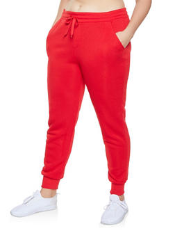 Plus Size Fleece Lined Sweatpants - 1928072290139