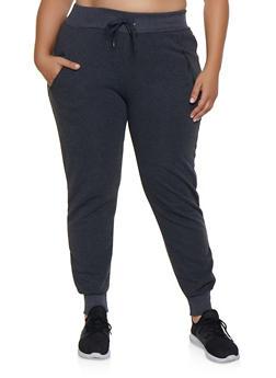 Plus Size Fleece Lined Joggers | 1928072291388 - 1928072291388