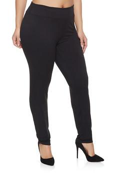 Plus Size Solid Leggings - 1928072291928