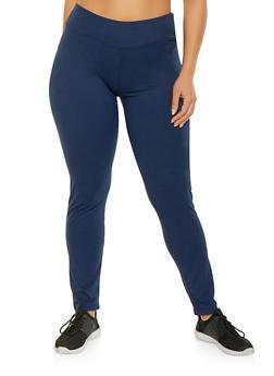 Plus Size Soft Knit Basic Leggings - 1928072291928