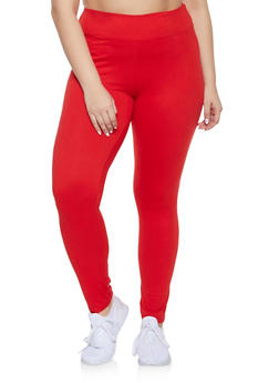 Plus Size Solid Leggings - 1928072291928