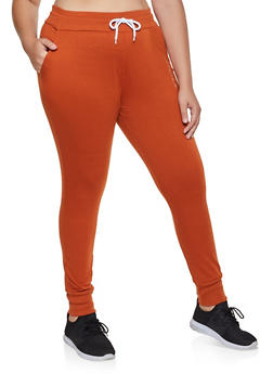 Plus Size French Terry Joggers - 1928072295757
