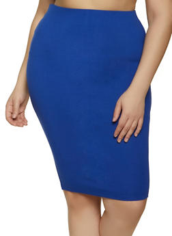 Plus Size Ponte Skirt - 1929058751669