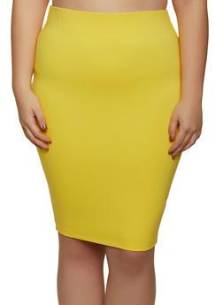 Plus Size Ponte Skirt - 1929058751669
