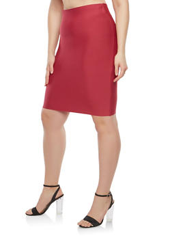 Plus Size Bandage Pencil Skirt - 1929068190072