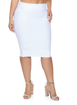 Plus Size Bandage Skirt - 1929068197073