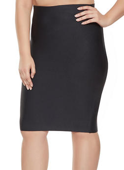 Plus Size Bandage Pencil Skirt - 1929068197074