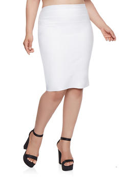 Plus Size Bandage Pencil Skirt - 1929069394070