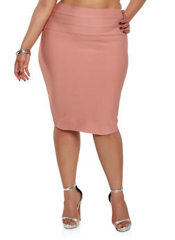 Plus Size Bandage Pencil Skirt - 1929069394070