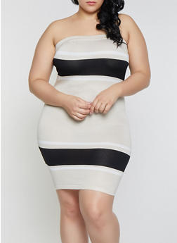 Plus Size Strapless Dresses for Women