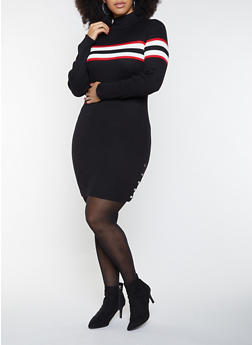 Black Plus Size Sweater Dresses | Rainbow