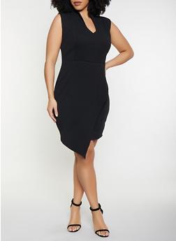Plus Size Open Back Sheath Dress - 1930015999009