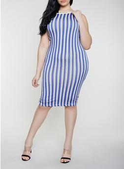 Plus Size Striped Tank Dress | 1930062707120 - 1930062707120