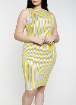 8812c1a383f Yellow Plus Size Tank Dresses