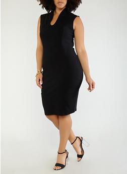 Plus Size Sheath Dress - 1930068512041