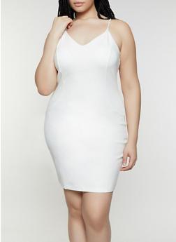 White Plus Size Ponte Dress