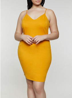 Plus Size Ponte Bodycon Dress - 1930069390421