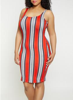 Plus Size Striped Tank Dress | 1930069391493 - 1930069391493