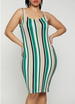 Plus Size Striped Tank Dress | 1930069391494 - 1930069391494