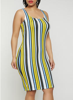 Plus Size Striped Tank Dress | 1930069391494 - 1930069391494