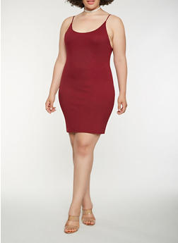 Plus Size Cami Tank Dress - 1930069393815