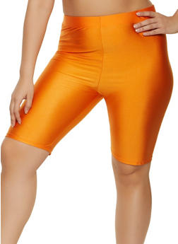 Plus Size Basic Spandex Bike Shorts - 1931062703263
