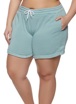 Plus Size Bermuda Sweatshorts - 1931072290992