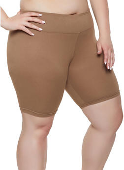 Plus Size Soft Knit Bike Shorts | 1931072291111 - 1931072291111