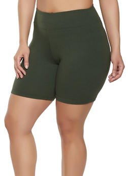 fa6445c3444a7 Plus Size Soft Knit Bike Shorts