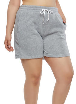 Plus Size Drawstring Waist Shorts - 1931072299920