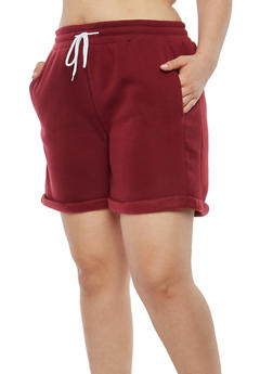 Plus Size Drawstring Waist Shorts - 1931072299920