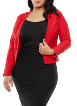 Plus Size Stretch Blazer - 1932068513708