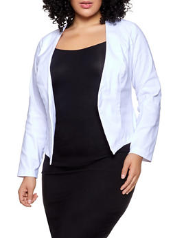 dbd9350dd14 Plus Size Stretch Blazer - 1932068518516