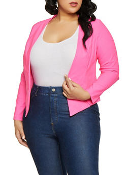 2ddb93335ff Plus Size Stretch Blazer - 1932068518516
